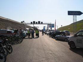 Autobahn - eine interessante Kullisse